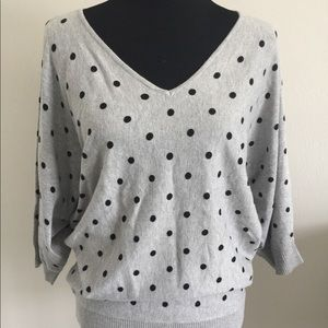 Premise gray with black polka dots Sweater